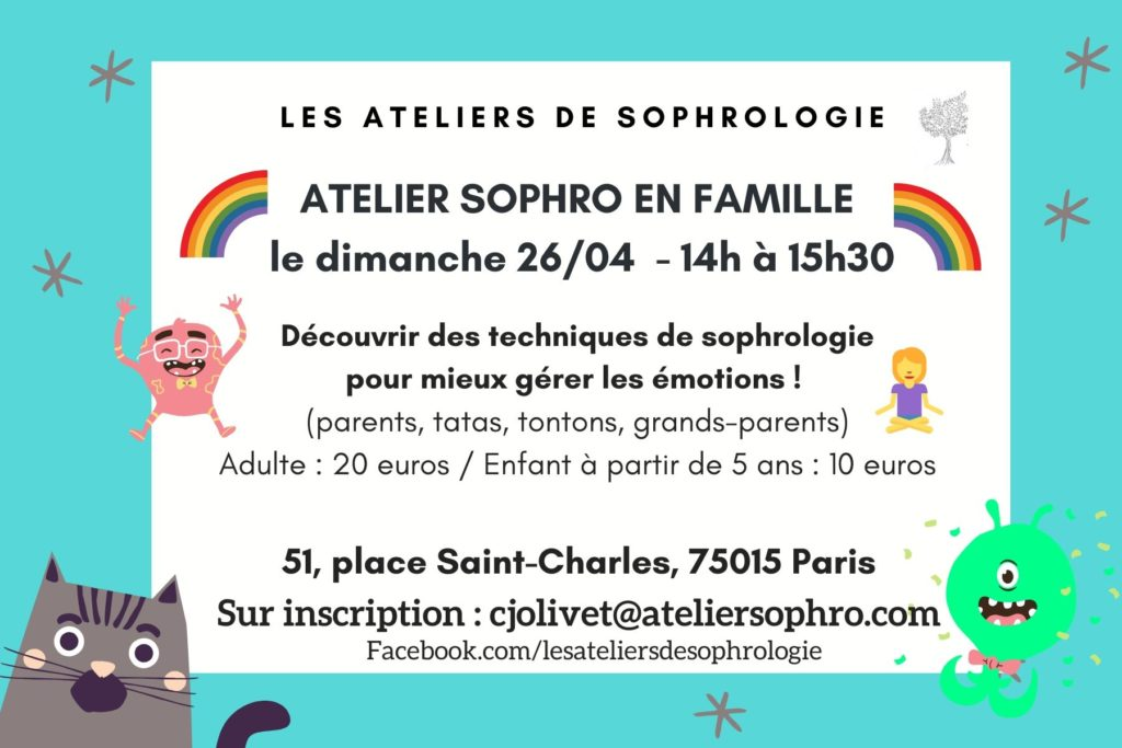 Atelier de sophrologie parents / enfants Paris 15