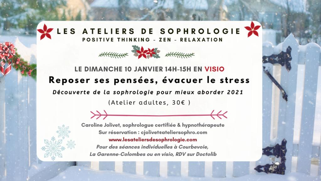 Nouvel atelier découverte de la sophrologie 10/01/2021