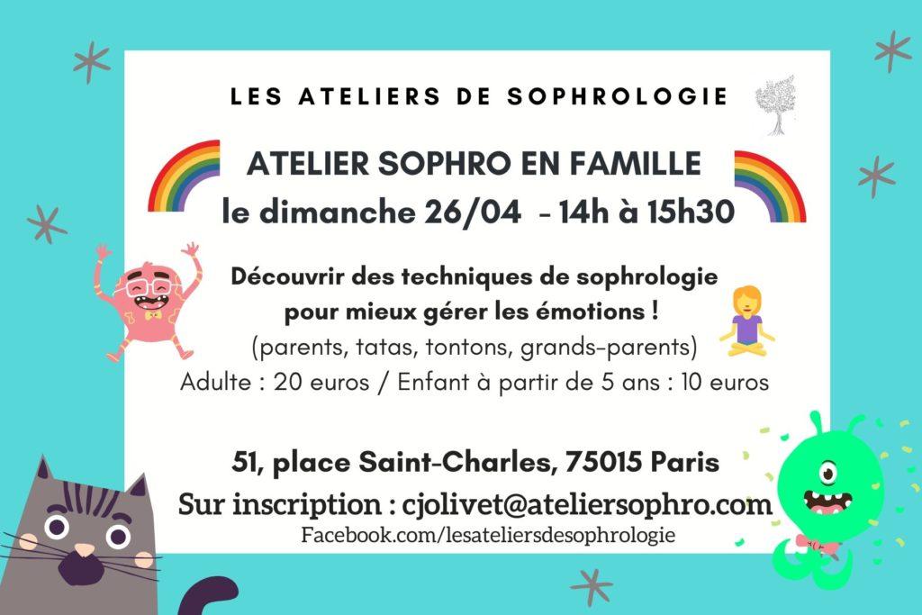 Atelier de sophrologie parents / enfants Paris 15